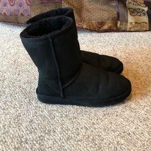 Ugg Australia black short sheepskin boots size 8